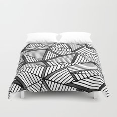 Ab Lines 2 Black and White Duvet Cover