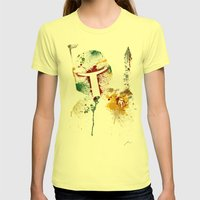Bounty Hunter Womens Fitted Tee Lemon SMALL