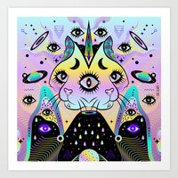 Art Print featuring Power of Three Cats by Súa Agapé