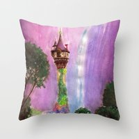 The Mystical Tower Throw Pillow