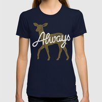 Always Womens Fitted Tee Navy SMALL