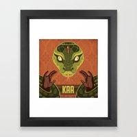 Kaa Framed Art Print