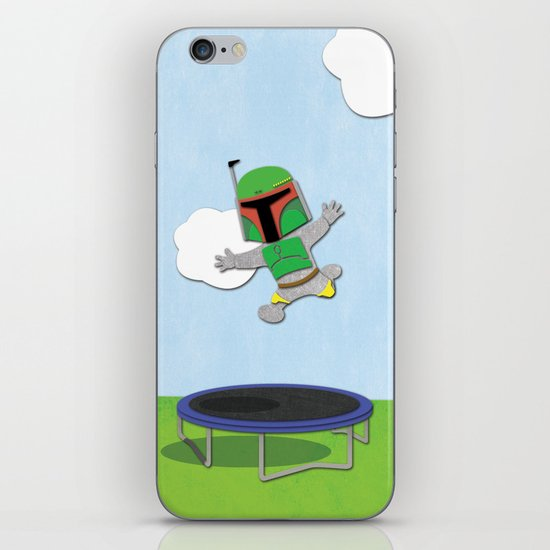 SW Kids - Boba Fett Jump iPhone & iPod Skin