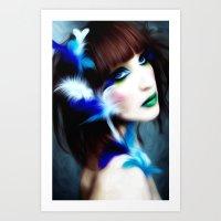 Feathered Beauty Art Print