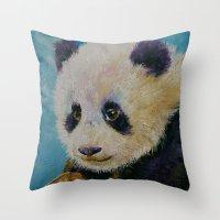 Panda Cub Throw Pillow