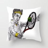 Tennis Federer Throw Pillow