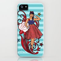 iPhone Cases featuring Pinup Candy Stars Sweet Daisy   by nice illus