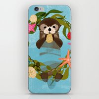 Sea Otter Holiday Card iPhone & iPod Skin