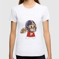 American Football Womens Fitted Tee Ash Grey SMALL