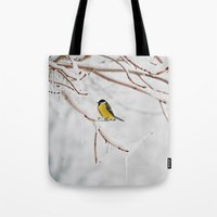 Tit And The Snow. Tote Bag