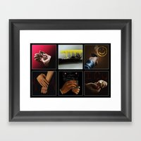 Sherlock - Hands Framed Art Print