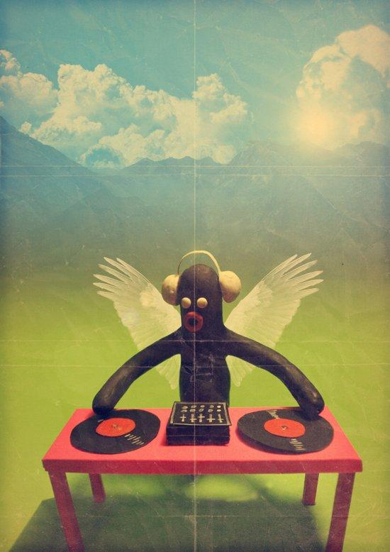 """""""last night a DJ saved my life"""" Art Print"""