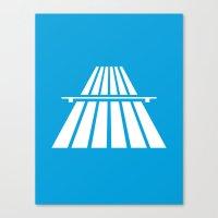 Autobahns | Autobahn | Motorway | Freeway | Highway | Bundesautobahn | Road sign Canvas Print