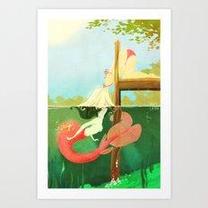 Dock Kiss Art Print