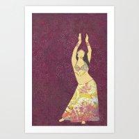 Belly dancer 13 Art Print