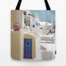 Santorini Door VIII Tote Bag