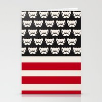 Pugtriotic American Flag Stationery Cards