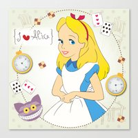 I {❤} Alice In Her Won… Canvas Print