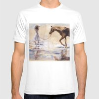 Three Wishes Mens Fitted Tee White SMALL
