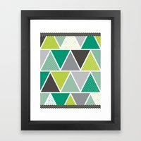 Triangulum - Emerald Framed Art Print