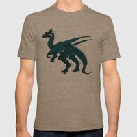 Teal Dragon Mens Fitted Tee Tri-Coffee SMALL
