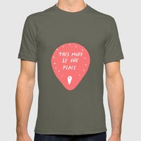 This Must Be The Place Mens Fitted Tee Lieutenant SMALL