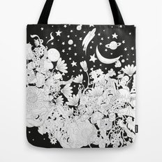 Cartoon Night Tote Bag