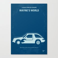 No211 My Waynes World minimal movie poster Canvas Print