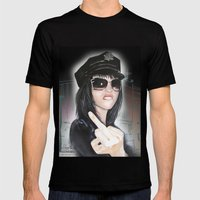 NYPD Rebel Mens Fitted Tee Black SMALL