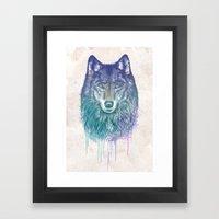 I Dream of Wolf Framed Art Print