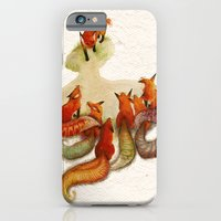 iPhone & iPod Case featuring aesop's fable - the fox and his tail by Cat Ho