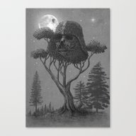 Dark Side Of The Forest  Canvas Print