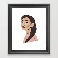 Modern Hepburn Framed Art Print