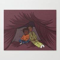 Troy and Abed's Pillow-Blanket Fort Canvas Print