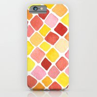 iPhone & iPod Case featuring Strawberry Grid by a. peterson