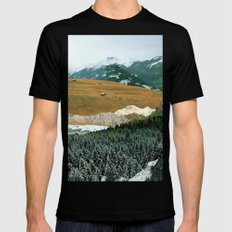 Experiment am Berg 21 SMALL Mens Fitted Tee Black