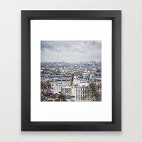 Snowy Paris Framed Art Print