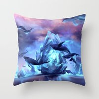 When the moon is closer Throw Pillow