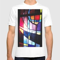 Stained Beauty Mens Fitted Tee White SMALL