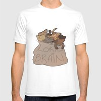 Loki's Brain Mens Fitted Tee White SMALL