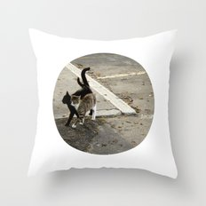 shadow in love Throw Pillow