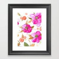 All-Pink Double Spring Floral Framed Art Print
