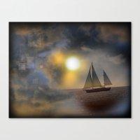 Sailing To Heaven Canvas Print