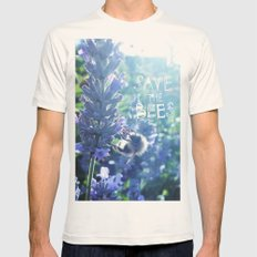 Save the Bees Campaign Mens Fitted Tee Natural SMALL