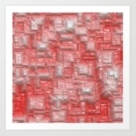 Peppy Crystals Red Art Print