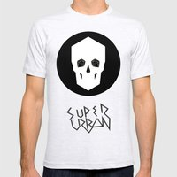 Super Urban Mens Fitted Tee Ash Grey SMALL