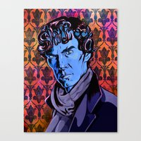 SHERLOCK's locks  Canvas Print