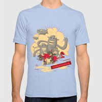 Cowmunism Mens Fitted Tee Tri-Blue SMALL