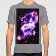 Planetary Nebula Mens Fitted Tee Tri-Grey SMALL