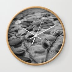 Table cloth with flowers Wall Clock